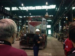 Ryan King's shot of Mr. Clapper the assistant CMO of the Wheeling and Lake Erie...thank you Steven Harvey and American Steam Railroad for this tour. Many thanks to the Wheeling and Lake Erie Railroad.